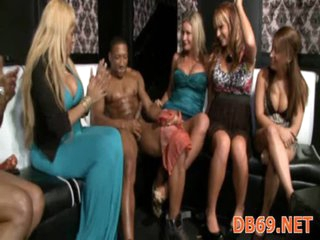 Whores engulfing in strip club
