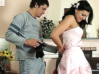 Laura&Adam hot nylon movie scene