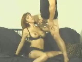 Redhead eats cock down