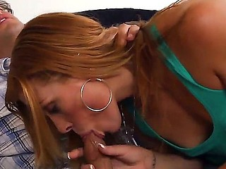 Wicked Andi Ashton pleases Rocco Reed with a deep-throat oral-stimulation