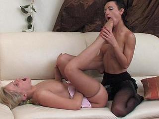 Benett&Subrina nasty nylon feet movie scene