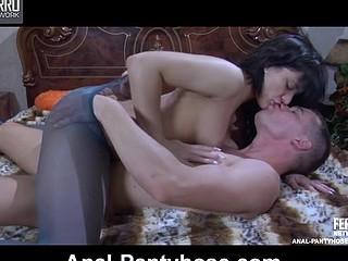 AprilB&Clem seductive anal pantyhose action