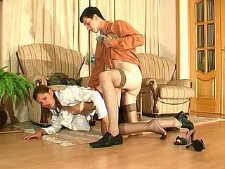 Sophia&Jerome raunchy nylon act