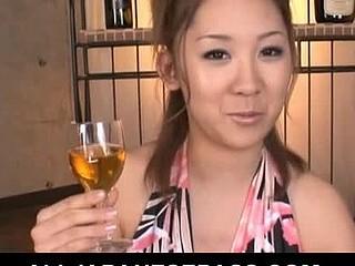Karin Tsubaki Asian model is getting her hairy love tunnel poked