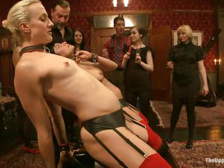 sex slaves in stockings getting punished