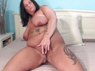 chubby brunette hair older doing a solo play