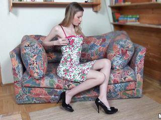 legal age teenager blond pleasures herself