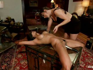 lesbian domination with two agreeable milfs