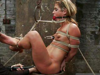 bound up blonde taking her punishment