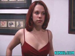 Castigation on tender titties