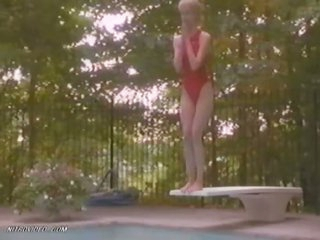 Laura Dern Bathing In a Hot Swimsuit - 'Down Came A Blackbird' Scene