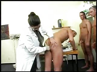 Large Titty Doctor Has Gangbang With Soldiers