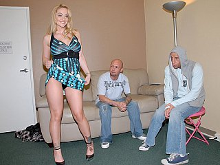 Getting her in nature's garb and fucking in front of husband!