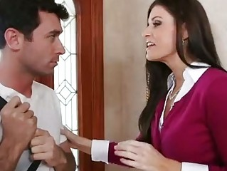 Hot MILF India Summer Sucks Pecker and Gets ...