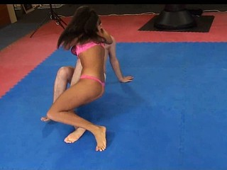 Melanie Memphis wrestles her thrall to the ground