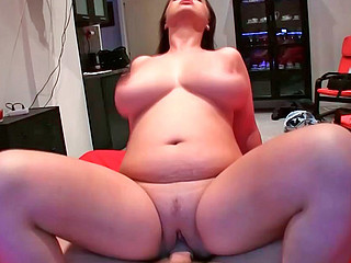 Sirale sucking unyielding monster pecker and riding on it masterfully