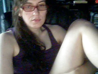 Spectacled non-professional tgirl plays with her tits, 10-Pounder and ass