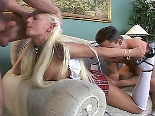 Hot golden-haired deep sucksfucked and fisted
