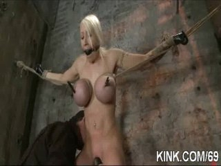 Busty pretty hot girl receives punished fucked in thraldom