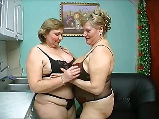 two old chubby aged have wild sex in black underware