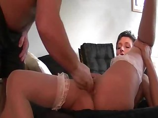 Punch fisting the wifes great labia