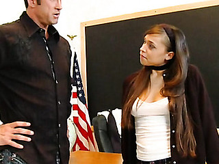 Legal Age Teenager wench punished by coach