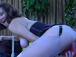 Carrie playful nylons tease