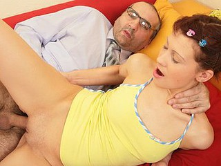 Slutty coed gets hardly arse-fucked by her teacher
