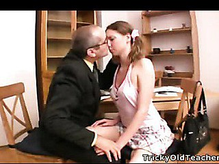 Indecent hardcore action in teacher??Щs office