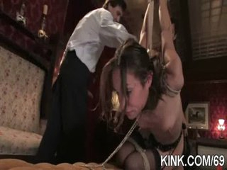 Sexy pretty sweetheart dominated, bound and fucked