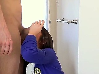 Pretty school girl Giselle Leon is sure that she will get her brothers friends schlong