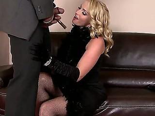 Kathia Nobili and Samantha Bentley are enjoying a huge cock that ravages 'em both