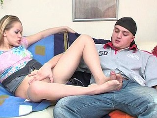 Susanna&Nicholas nylon footfuck movie