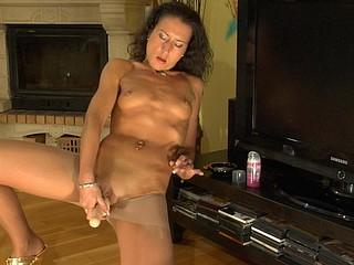 Regina posing in pantyhose