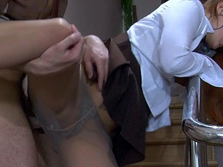 Megan&Jack office pantyhose sex action