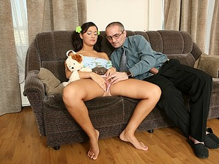Sinless youthful babe gets hammered enormous by her teacher