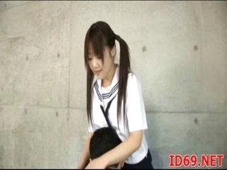 Japanese AV Model prepares food
