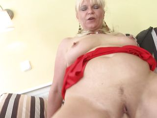 old mom having sex with son's friend!