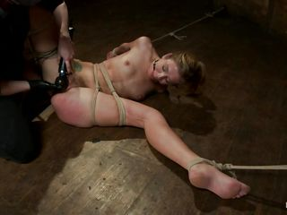 large juicy lips golden-haired being punished