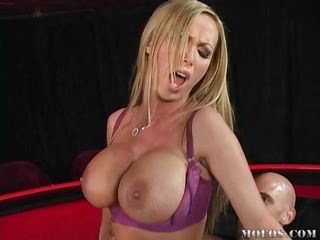 nikki benz's large love muffins bounce while her vagina is drilled
