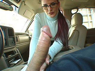 Caroline Pierce giving head in a car