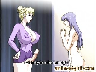 Busty hentai shemale bonks the shit out of her sexy ally