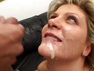 Ginger Lynn gets her face saturated with hawt cum