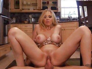 Milf Julia Ann bounces her pussy on a rigid shaft