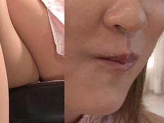 Hibiki Ohtsuki tasting alluring cum and ding-dong