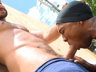 Gay porn where they have the pecker engulfing and anal fucking