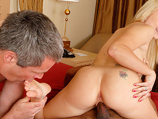 Valerie White and Her Cuckold Husband Engulf Black Dick Jointly