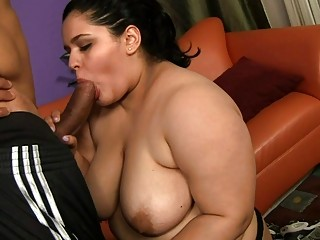 Chubby getting roped and screwed in hot mouth