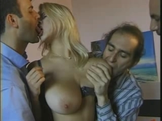 Big meatballs blonde fuck with three men