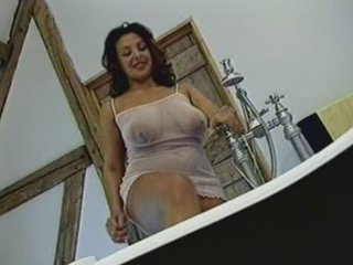 British Busty MILF receives screwed in the bathroom